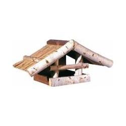 Futterhaus mit Schilfdach