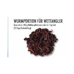 Wurmportion für Wettangler...